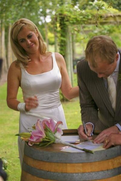 Juliet - silk satin crepe, ribbons - Christchurch bride