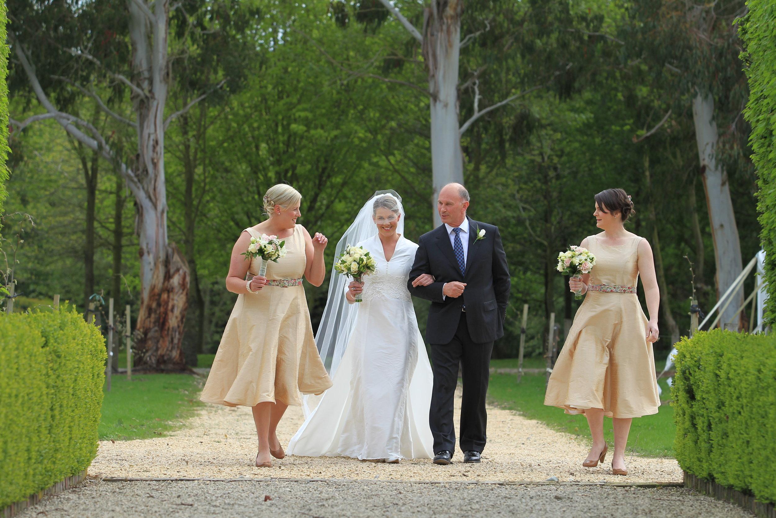 v - silk dupion - Christchurch bridal