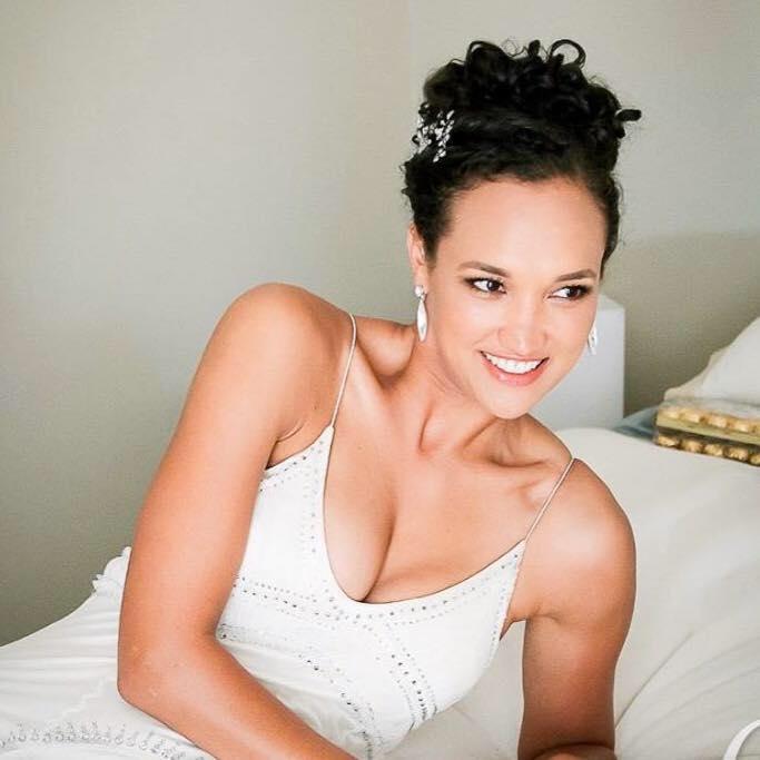 Lache - silk peau de soie Jenny Packham gown - Christchurch Bride