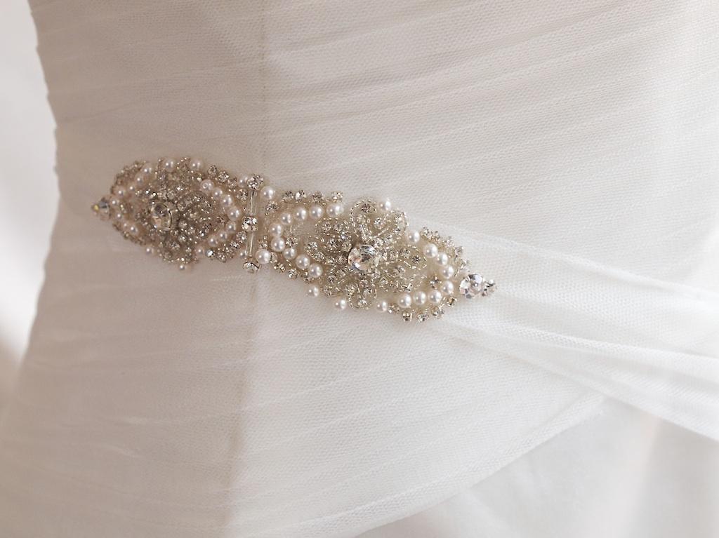Donna - silk duchess, tulle & beaded trim - Christchurch Bridal