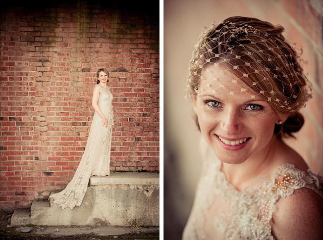 Clarissa - silk charmeuse, chantilly lace - Oamaru bride