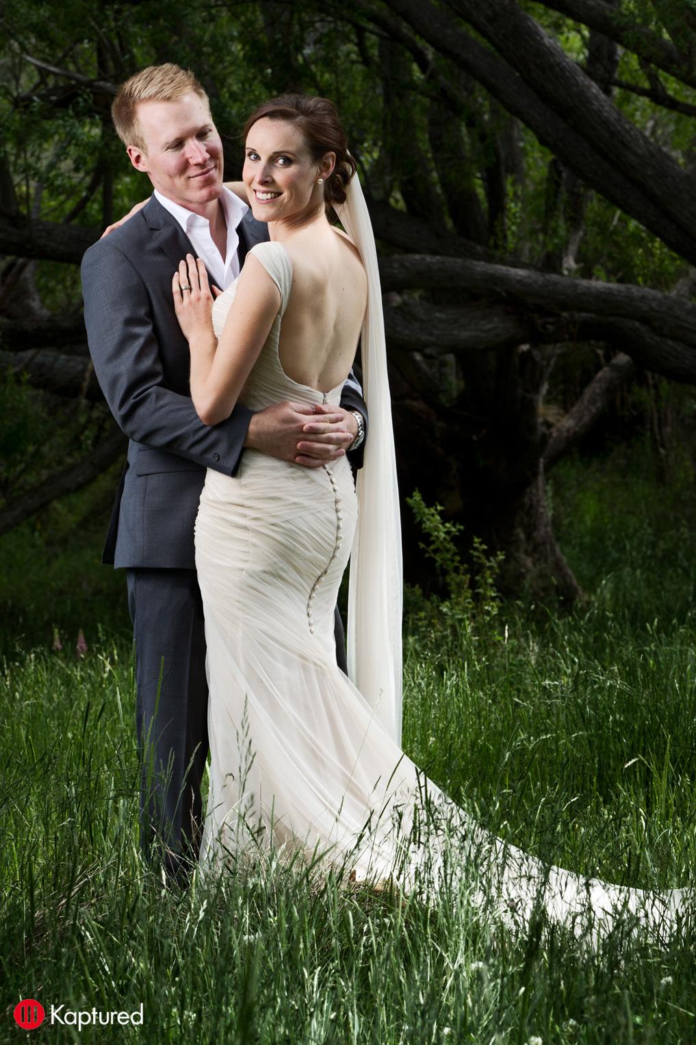 Danni - blush silk satin crepe, silk tulle - Castle Rock bride - Kaptured Photography