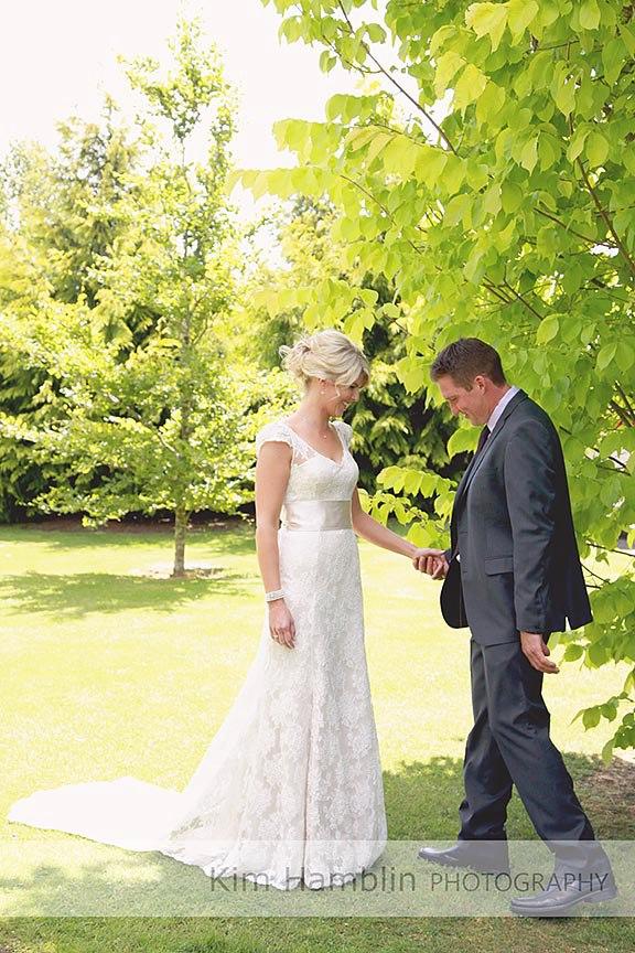 A - satin crepe, corded lace - North Canterbury bride - kim hamblin photogrpahy