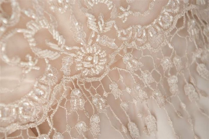 Jade - silk dupion - beaded lace - Auckland bride - Tandem Photography