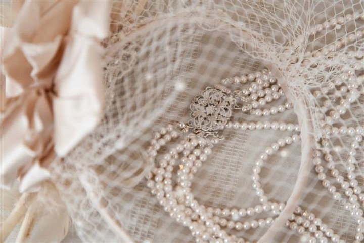 Jade - vintage tulle headband with silk flower - Auckland bride - Tandem Photography