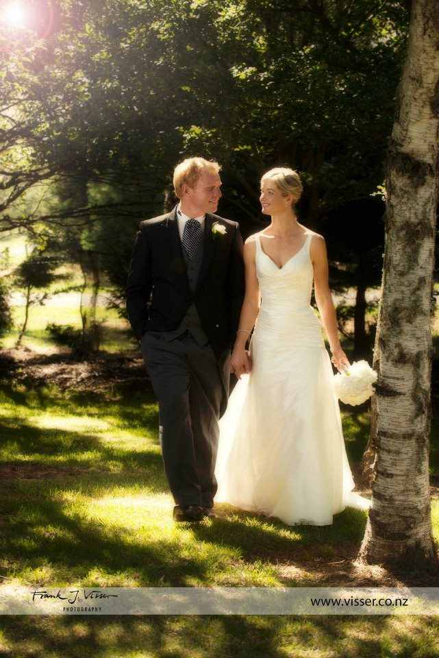 Trudy -  silk dupion, corded lace - South Canterbury bride - Frank Visser Photography
