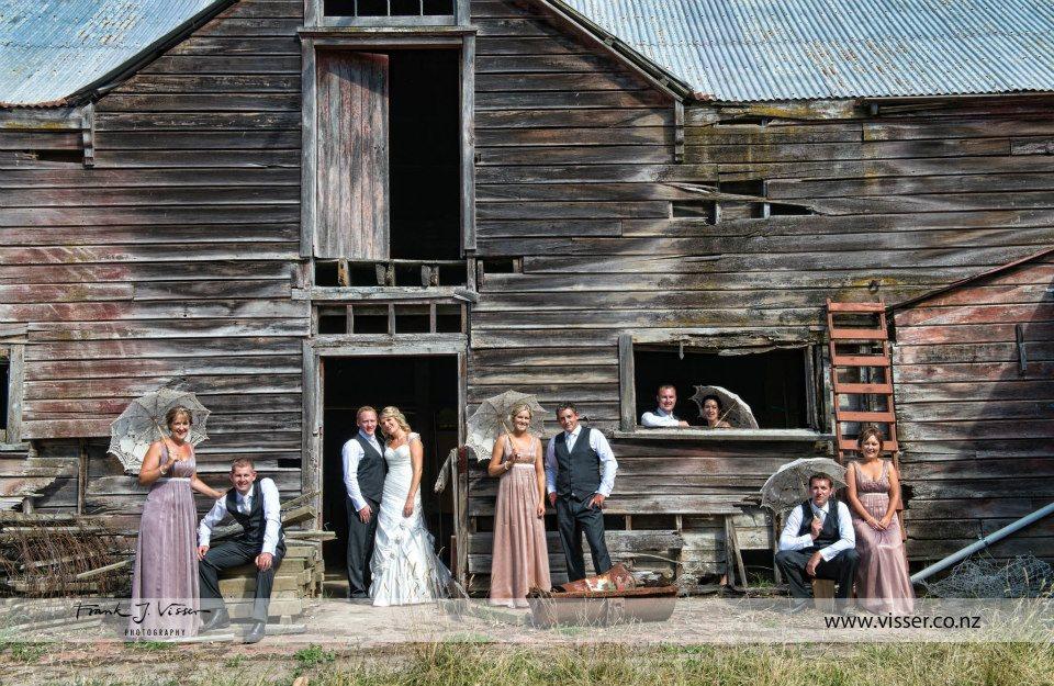 Katrina - silk dupion, silk chiffon - South Canterbury bride - Frank Visser Photography