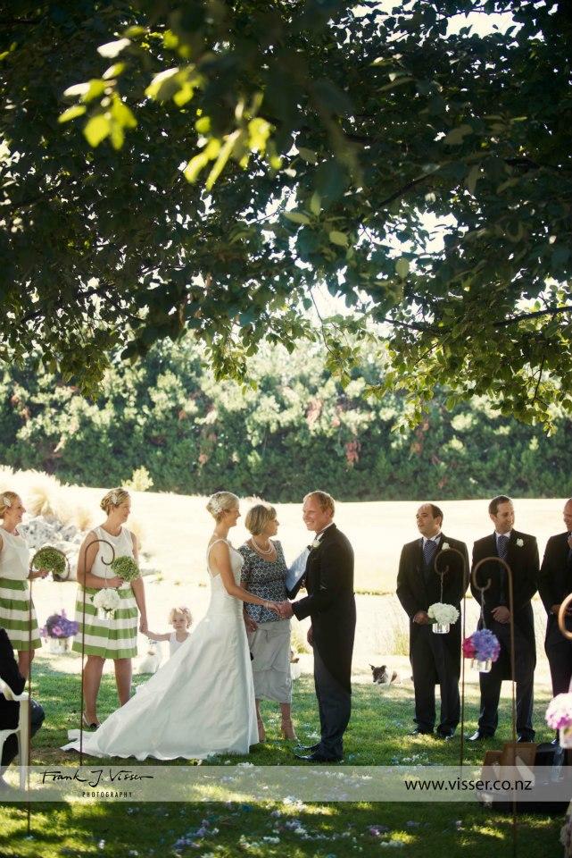 Trudy - silk dupion - South Canterbury bride - Frank Visser Photography