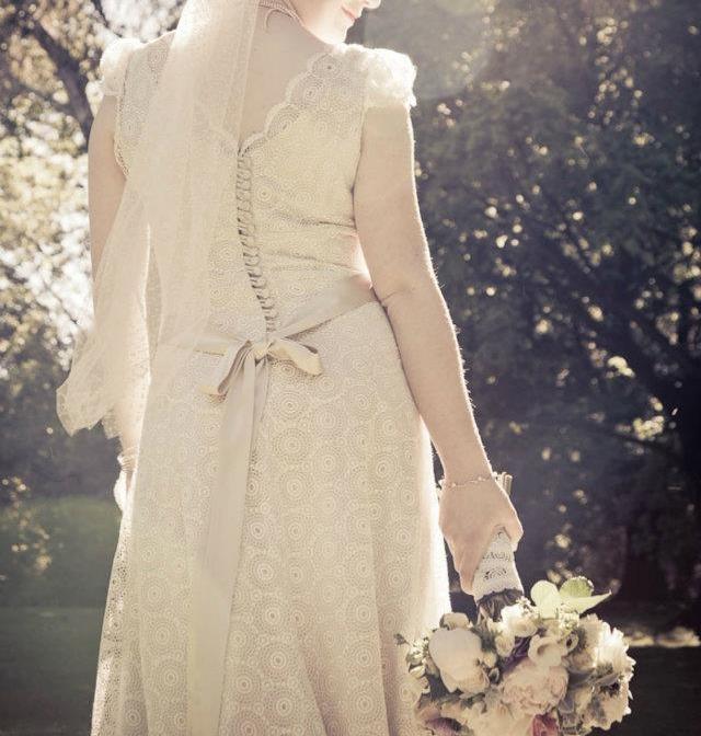 Helen - silk satin crepe, guipure lace - christchurch bride