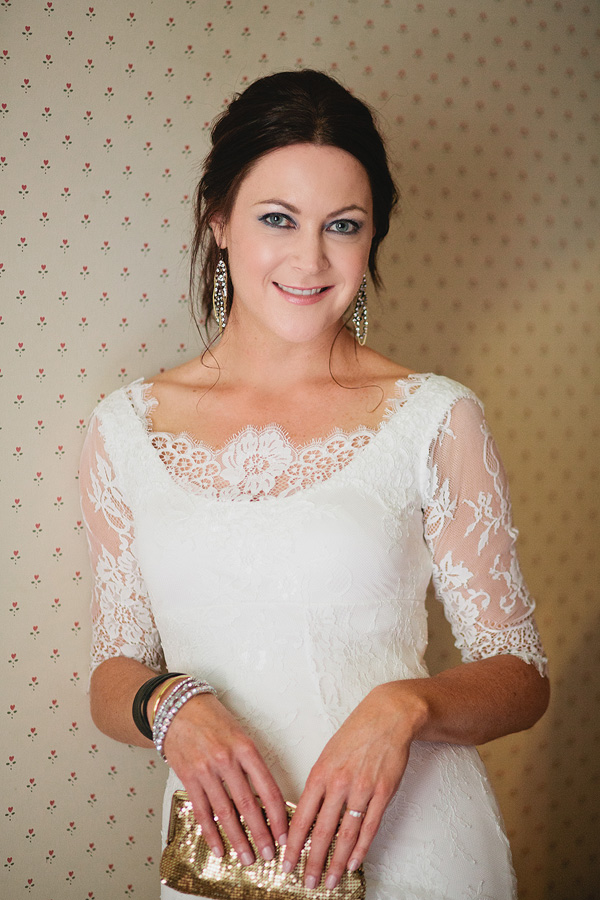 Kate - silk jersey, chantilly lace - Southland Bridal
