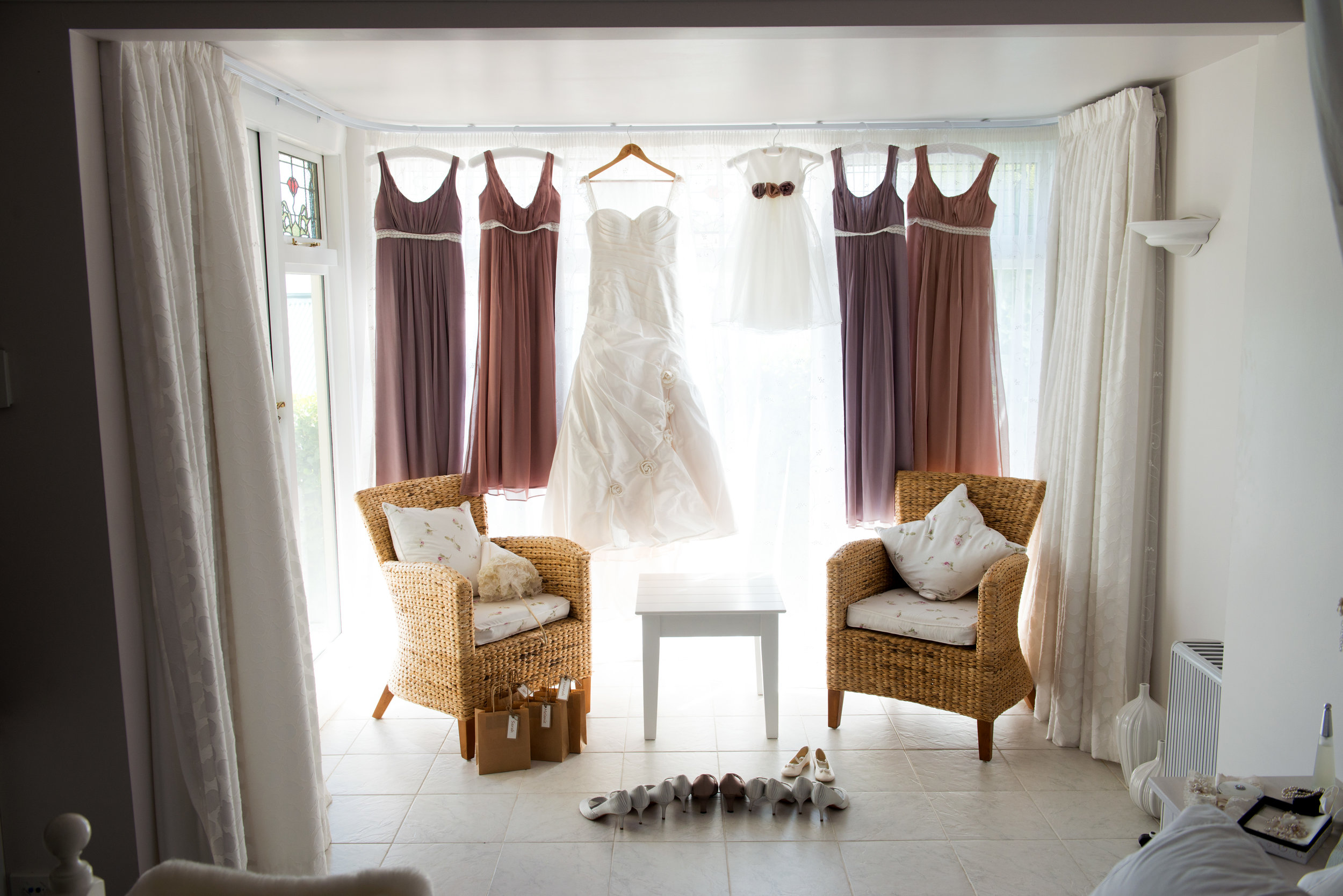 Katrina - silk dupion, maids, satin and chiffon - South Canterbury Bridal - Frank Visser Photography