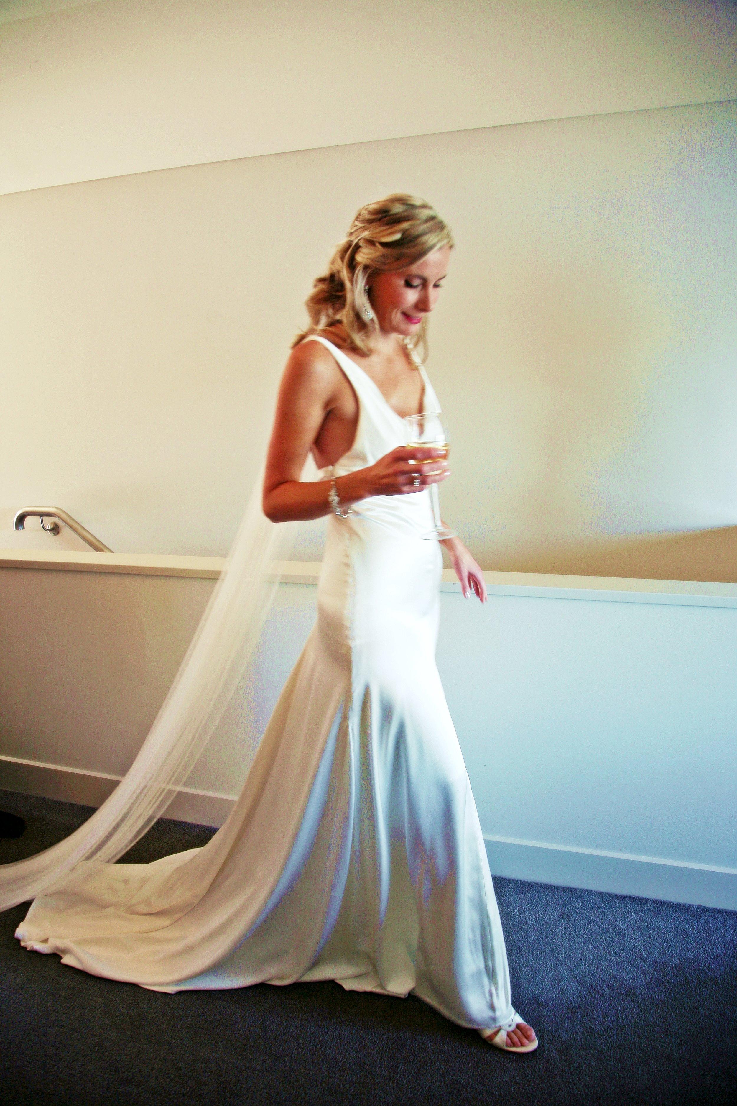 Leana - silk satin crepe - Queenstown Bridal -