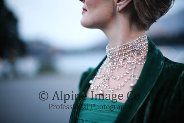 Libby - restored vintage silk georgette - Queenstown Bridal - Alpine Image Company Photography