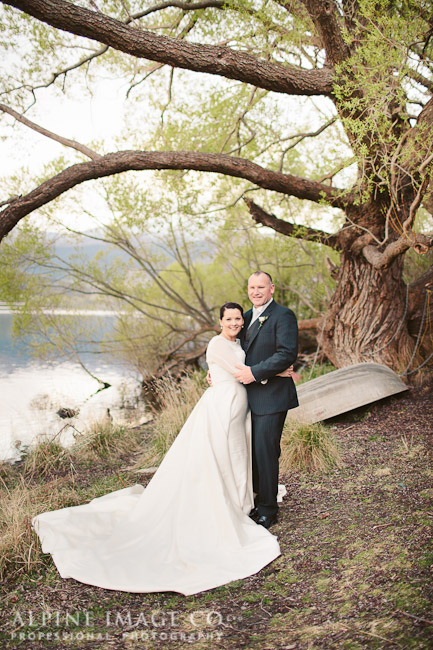 v - silk mikado, silk georgette - Queenstown Bridal - Alpine Image Company Photography