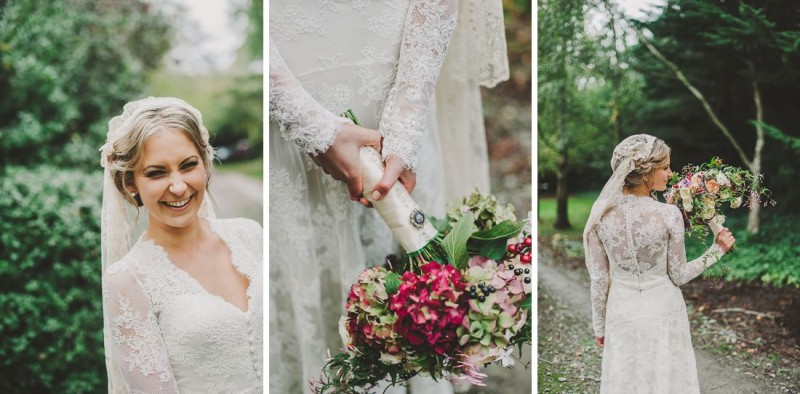 Charlette - silk satin crepe, corded lace - North Canterbury Bride - Paul Tatterson Photography
