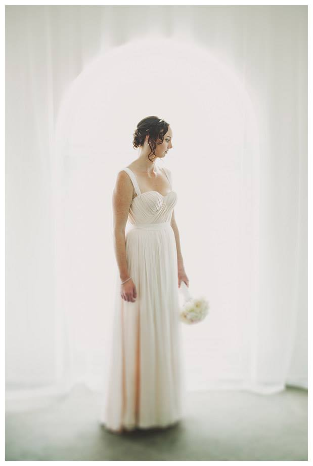 Maxine - Silk charmeuse, silk chiffon - Christchurch Bride - Paul Tatterson Photography
