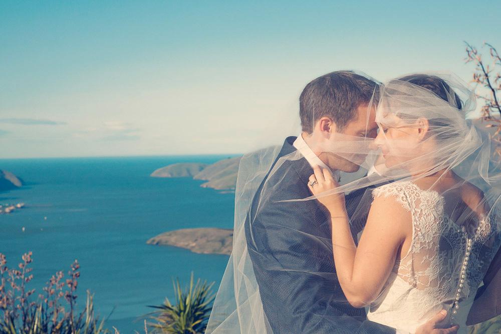 Nikki - silk satin crepe, chantilly lace - Christchurch wedding - Sandra Flamank Photography