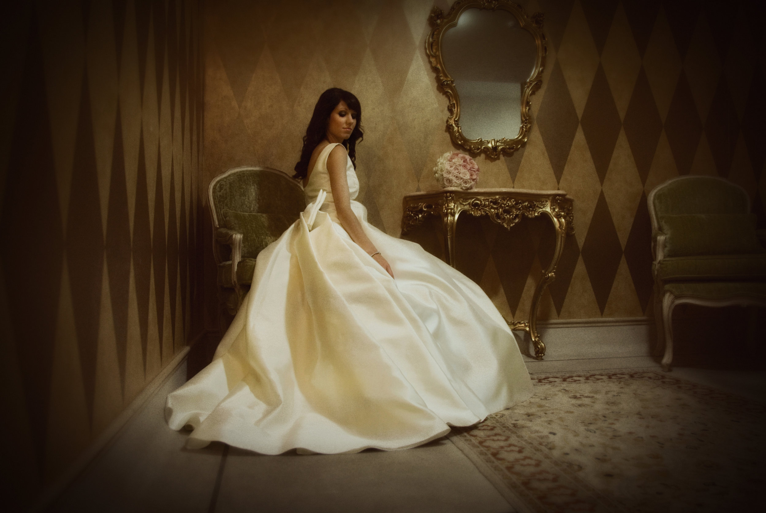 Sara - silk mikado - Christchurch wedding bridal - Tracey Alsopp Photography