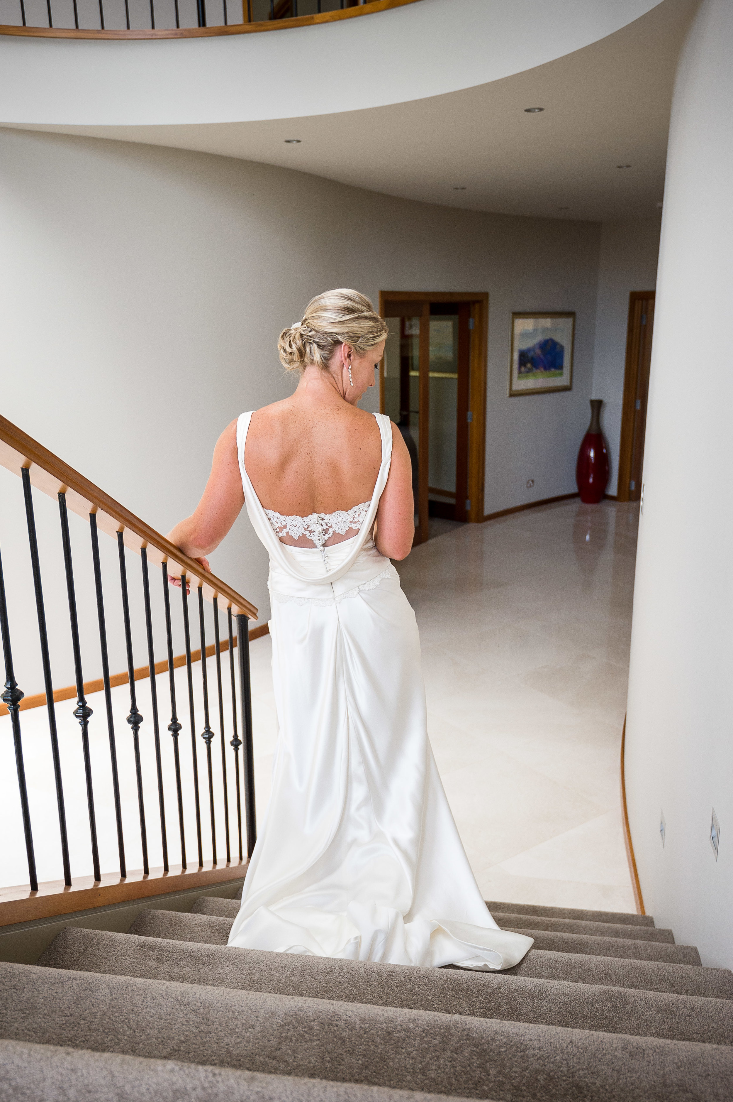 stacey - silk satin crepe, beaded lace - south canterbury christchurch wedding