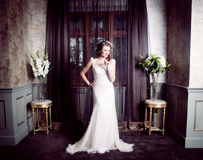 madison wears custom sample - styled shoot - christchurch bridal - petra mingneau photography