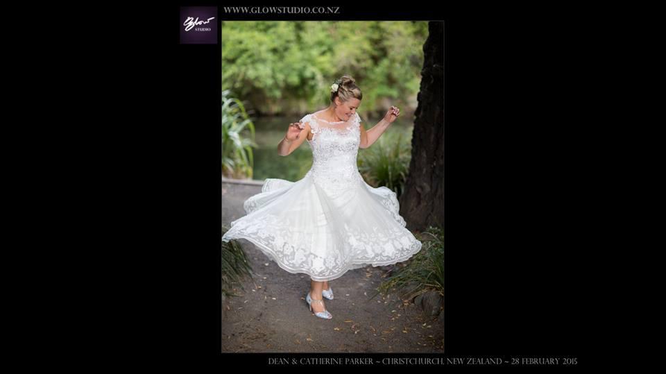 Catherine - silk satin crepe, silk organza, guipure lace - christchurch bridal