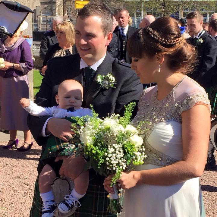deco gwendolynne gown - Scotland bride