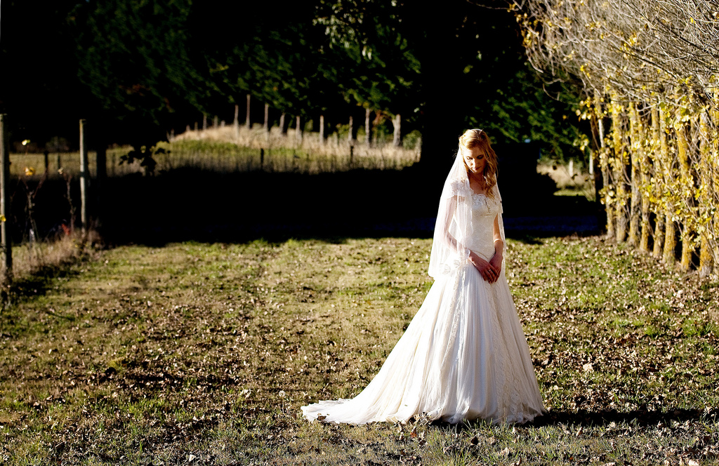 Justine - silk satin crepe, silk tulle, vintage lace - christchurch bride - tracey alsopp photography