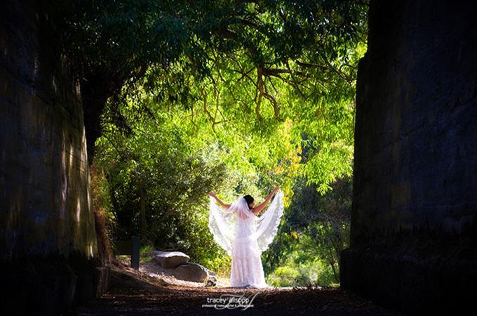 anna - silk satin crepe, corded lace, mantilla veil - christchurch wedding