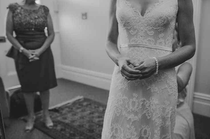 Sarah - silk satin crepe, corded lace - Christchurch wedding - Susannah Blatchford Photography