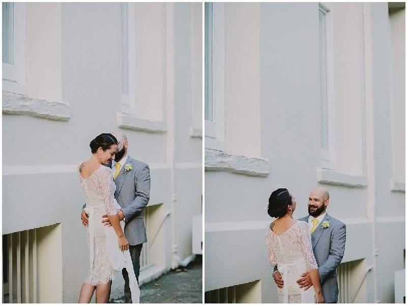 Emma - silk satin crepe, french lace, silk chiffon - Christchurch wedding - Susannah Blatchford Photgraphy