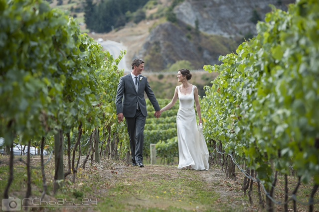 laura - silk satin crepe, french lace - Queenstown wedding - Rich Bayley Photography