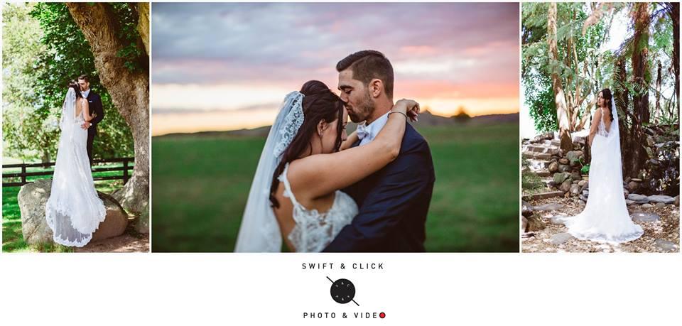 Jenna - Taranaki bride - satin, lace, tulle -  Swift Click Photography
