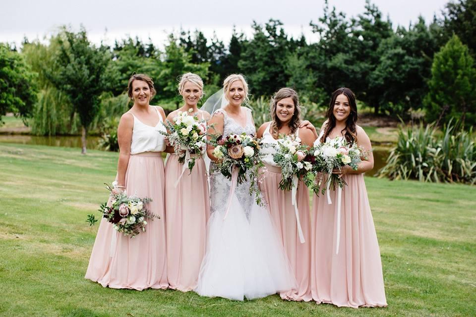 Sophie - silk satin crepe, applique lace, tulle - North Canterbury Bride - Bellbird Photography