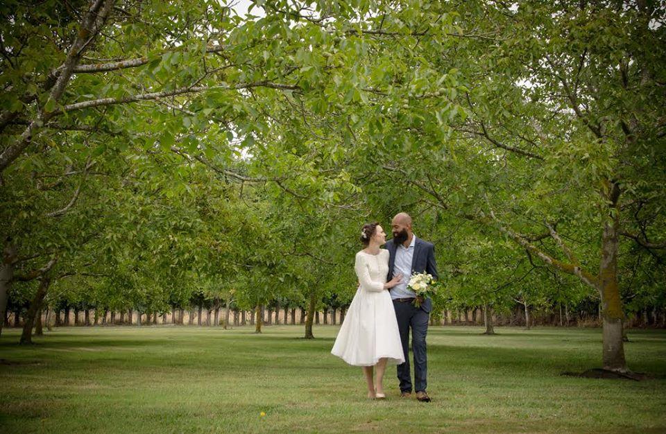 Lizzie - cotton tulle, silk organza, silk crepe de chine, guipure lace - Christchurch bride