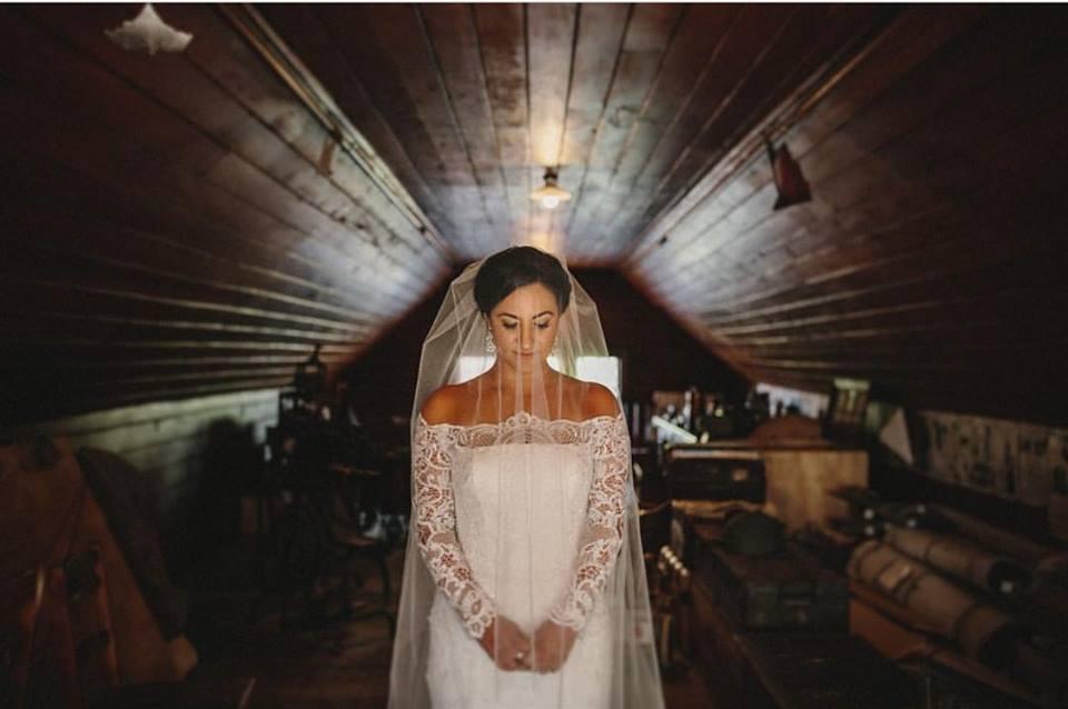 Anna - satin, tulle, lace gown - Riccarton House Bride - Susannah Blatchford Photography