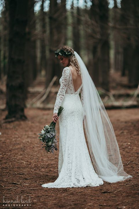 Melody - satin, lace - Christchurch Bride - Hannah Bird Photography