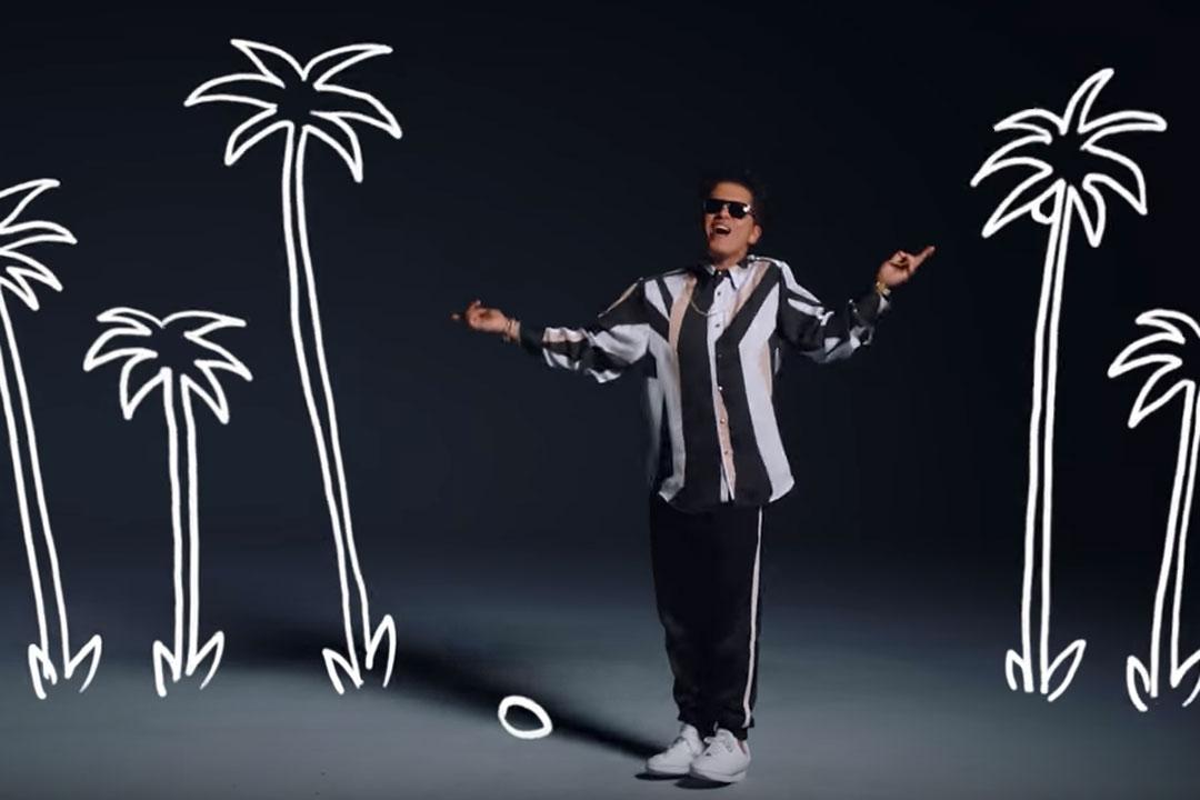 Screenshot from Bruno Mars' new video. (Source: Youtube)