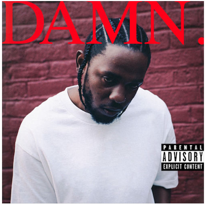 Album cover of Lamar's latest album,  DAMN.