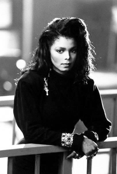 Janet Jackson on the set of the  Rhythm Nation 1814  film. (Source: Google)