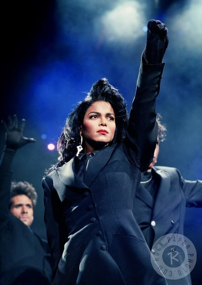 Janet Jackson during the opening of her Rhythm Nation World Tour. (Source: Google)