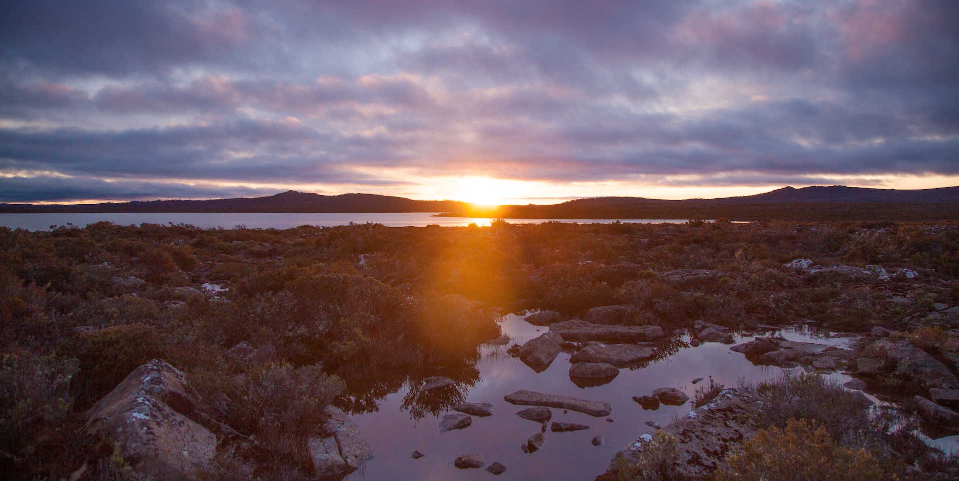Thousand Lakes Lodge sunset