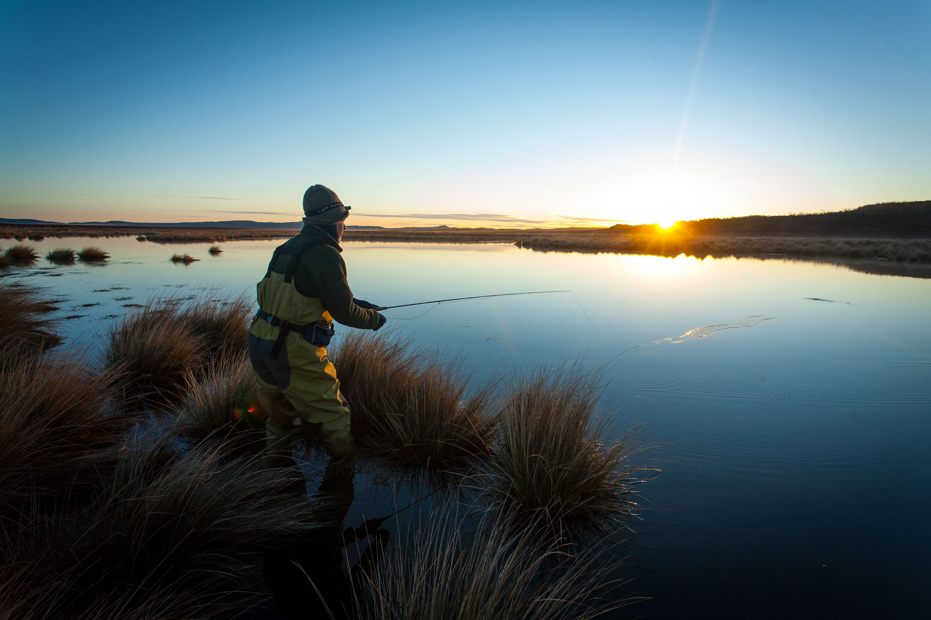 Thousand Lakes Lodge - trout fishing evening