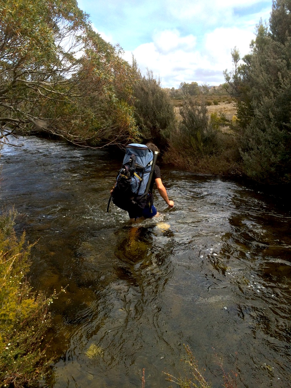 Lots of early rain meant cold water crossings