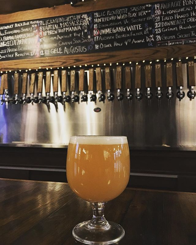 Hell yeah we have @otherhalfnyc 4th Anniversary on tap, but it won't last! Happy 4th to our friends at #otherhalfbrewing ! #drinklocal