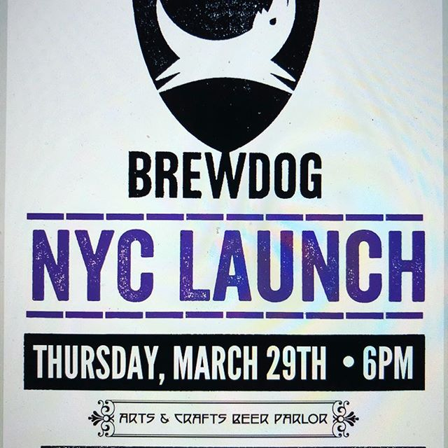 Join us Thursday in @greenwichvillagenyc for the NYC @brewdogofficial beer launch