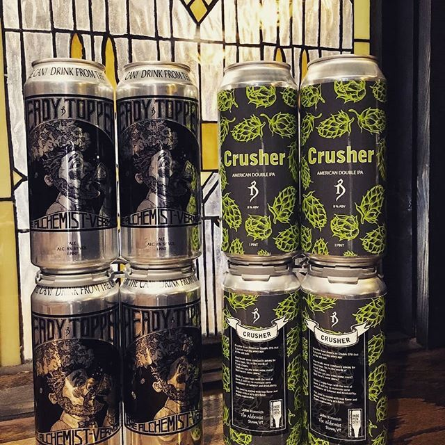 Guess what day it is??? @alch3mistb33r delivery! Heady Topper and Crusher cans. 🍻 . #craftbeer #headytopper #crusher #americandoubleipa #vermont #drinkfromthecan #thealchemist #thinkcraftbeer #drinkmorebeer #craftbeerlife #instabeer #limited_stock #hops #hoppy #nyc  @acbeermh