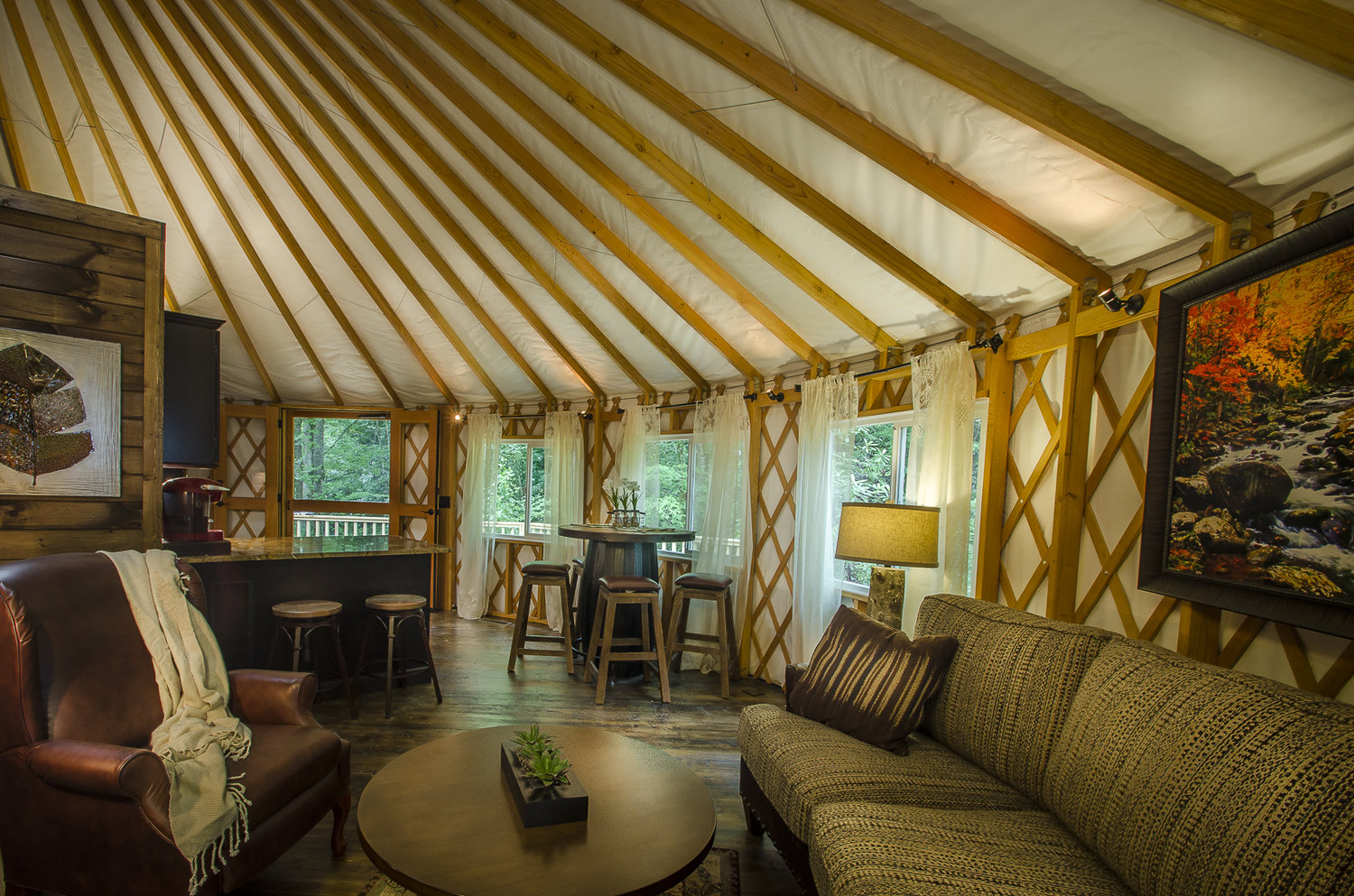 2 Bedroom Luxury Yurt Rental Lake Nantahala Cabin Rental With its circular design and spacious interior, the yurt encourages both social. 2 bedroom luxury yurt rental lake