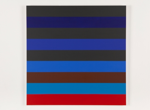 Nine Stripes #3  2014 Acrylic on canvas 36 x 36 in / 152.4 x 152.4 cm