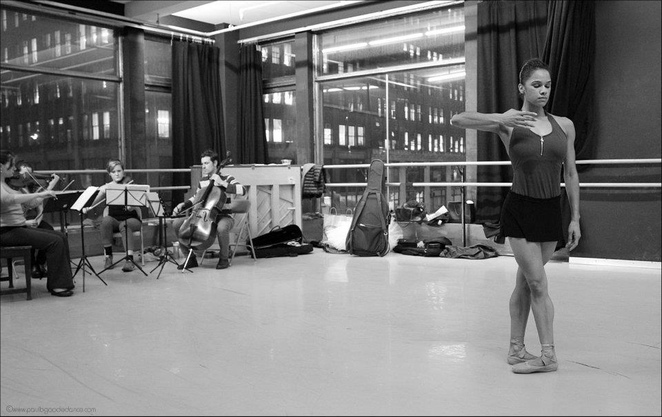 thedailyballet :     Misty Copeland in Ballet Next rehearsal.    Photo by Paul B. Goode Dance Photography.