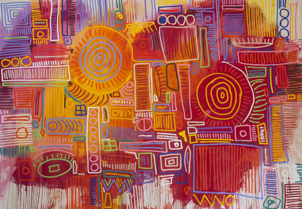 """Acrylic on Canvas, 72x108"""""""